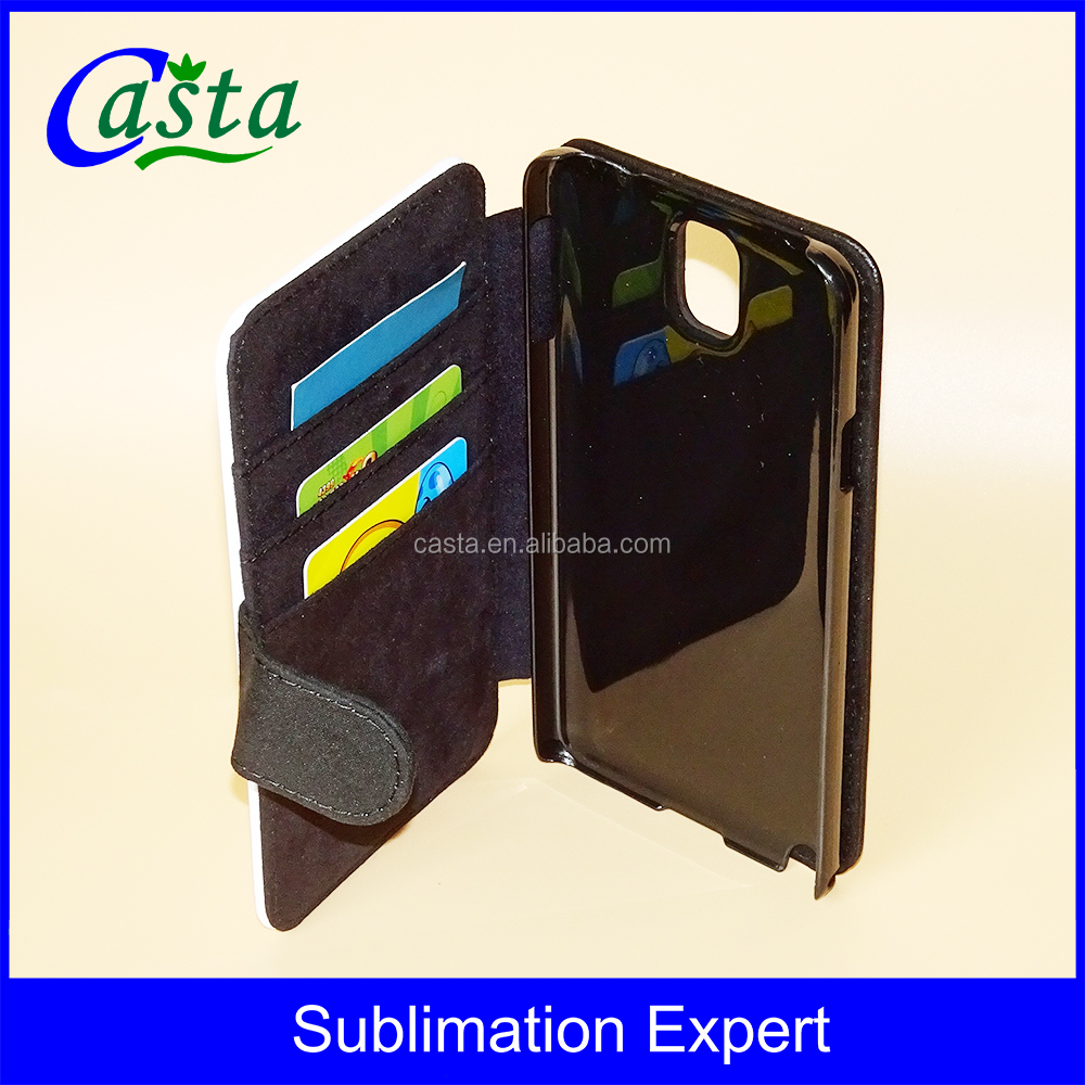 Manufacturer With magnetic buckle Leather Wallet Blank Sublimation mobile phone case For Samsung Galaxy Note 3