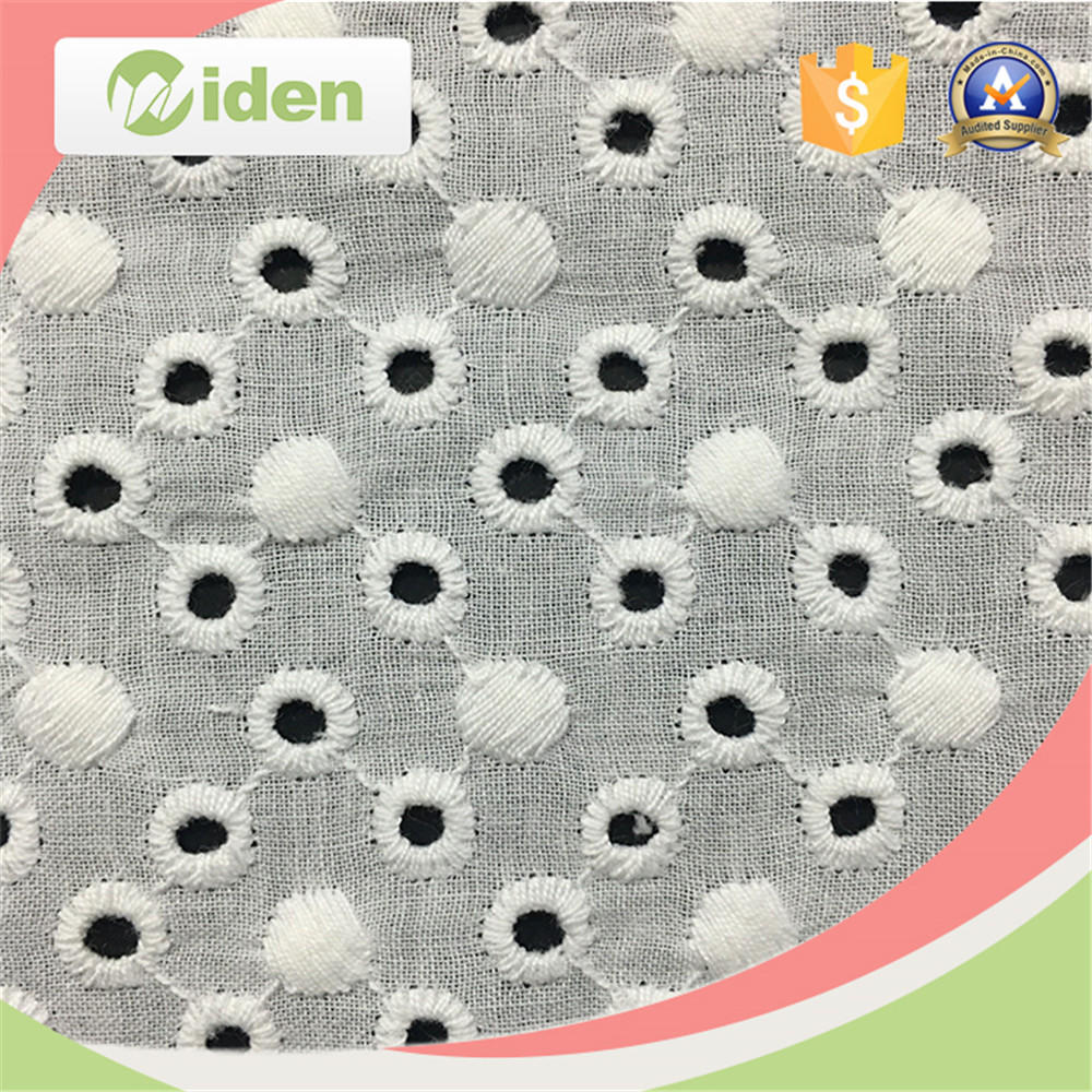 New Arrival wholesale 100% Cotton Embroidery Lace Fabric
