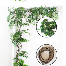 Wedding arch backdrop hanging vines Green Artificial Fake plastic Plant Leaves branches Home Garden Wall Decoration Supplies