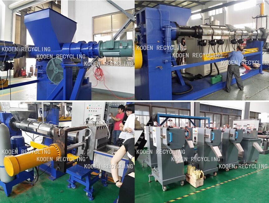 dirty HDPE LDPE pepp plastic pelletizing machine and washing machine