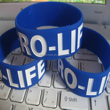 Customized silicone rubber bracelet, eco-friendly silicone wristband custom logo