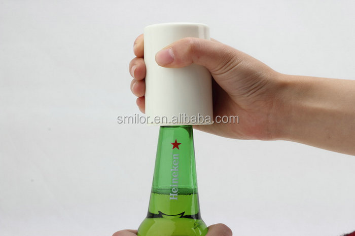 China Supplier Automatic Push Up Custom Bottle Opener Magnet