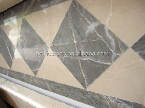 Inlaid Stone Flooring Design Ideas : Natural marble floor border simple designs waterjet inlay