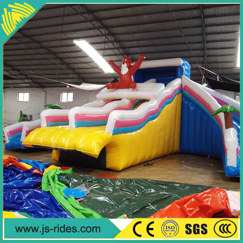 PVC material funny giant inflatable water slide for adult from China