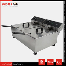 CHINZAO Super September Purchasing 10L+10L Fish And Chips Electric Deep Fryer Equipment