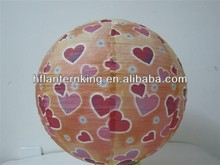 Fashion heart round paper lantern for holidays &wedding party decorations