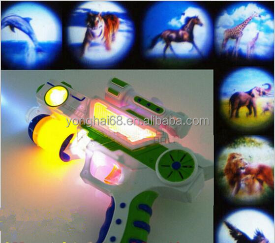 Stunning Children's Toy Guns 7 Kinds Of Patterns Sound-Emitting Projector Guns