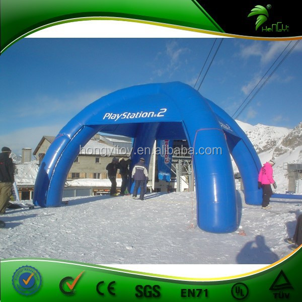 Cold Resisant Winter Hardy Qualified Inflatable Winter tent with EN / UL Blower