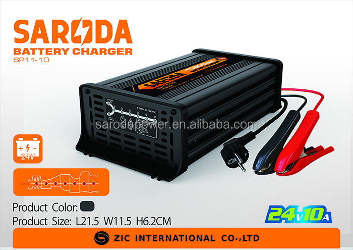 7 stage full controlled 24V 10Amps Automatic Constant Current Voltage Battery Quick Charger for AGM/UPS/Lead-acid battery