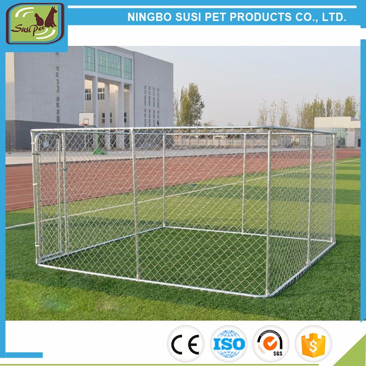 Outdoor Dog Kennel Run Pet Enclosure 4m x 4mx1.82m with Roof