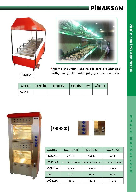 Chicken - Lamb Machines - Rotisseries Grill