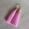 tassel earrings, gold plated latest design tassel earrings women