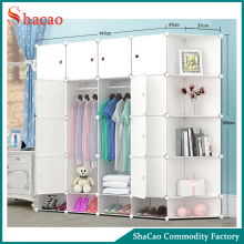 Pure White Color Clothing Storage DIY Plastic Cabinet