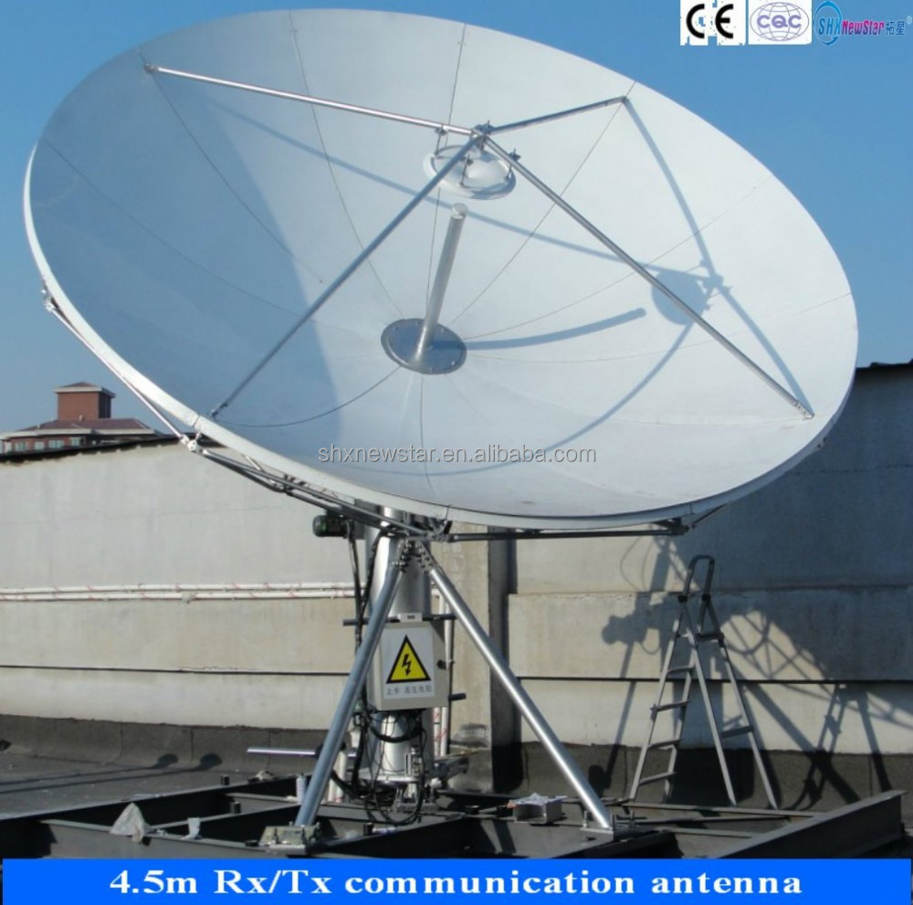 4.5m motorized vsat satellite communication antenna