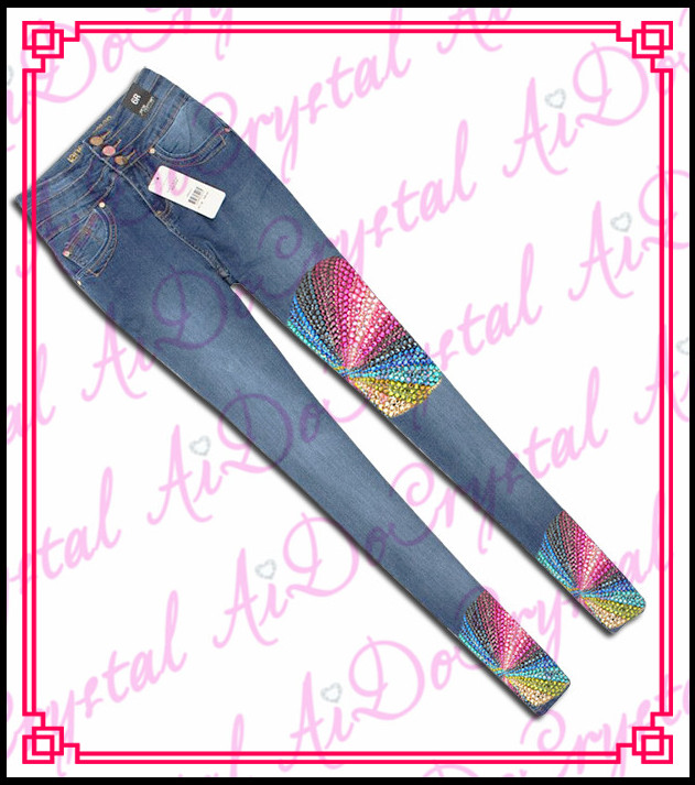 Aidocrystal New arrival Wholesale Denim Destroyed Skinny Jeans for Women
