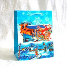 OEM recycled coated christmas paper bag