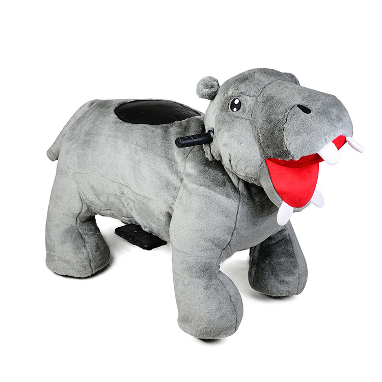Non coin operated motorized walking animal ride on toy for mall