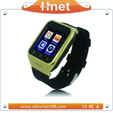 Support Watch TV and Phone call Wrist New android 4.4 bluetooth smart watch phone