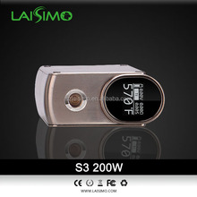 LAISIMO brand atomizer box mod S3 variable 200watt Export to Russian Wholesale for e-joy