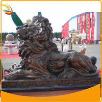 Large Outdoor Brass Lion Statues for Sale