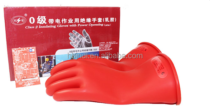 Durable high voltage safety 14 inch protective gloves class 00