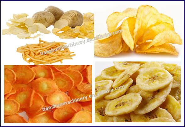 Automatic fresh potato chips french fries making machine / Chips Production Line