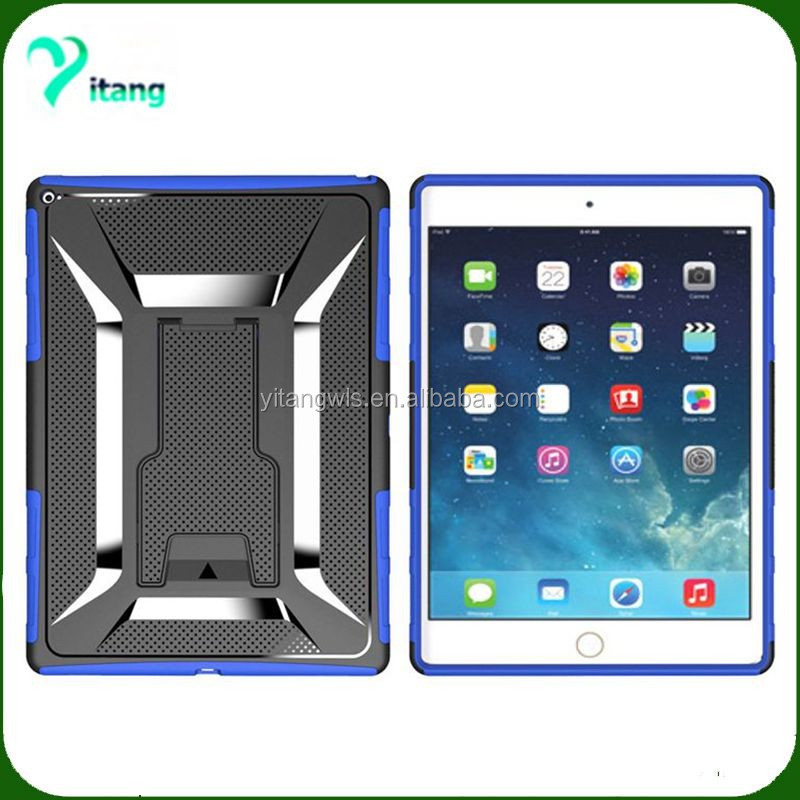 High quality armor T kickstand back cover kickstand combo holster case for IPad Pro