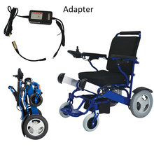 Small lightweight folding electric wheelchair for disabled and elderly people