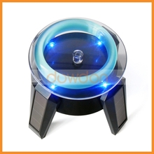Solar Rotating LED Display Stand / Solar display rack / solar turntable with LED lights for jewelry