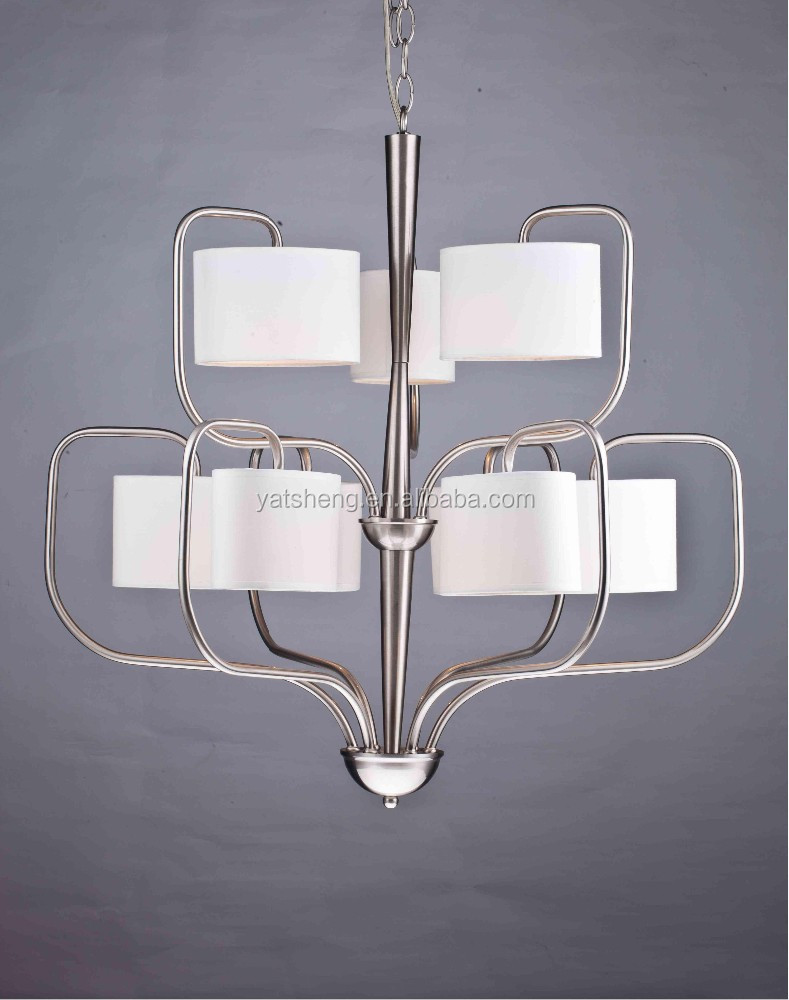 modern metal art hotel lamp fabric chandelier pendant lamp