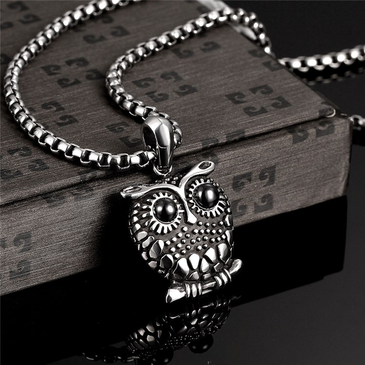 New Arrival Animals Owl Pendant Stainless Steel Necklace Wholesales