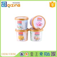 small size ice cream paper cup with lid and spoon 5oz