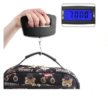 50Kg 10g LCD Home Electronic Digital Portable Hanging Weight Hook Travel Luggage <strong>Scale</strong>