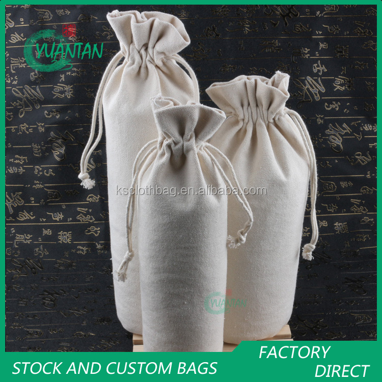 factory custom logos cotton canvas drawstring coffee tea bags