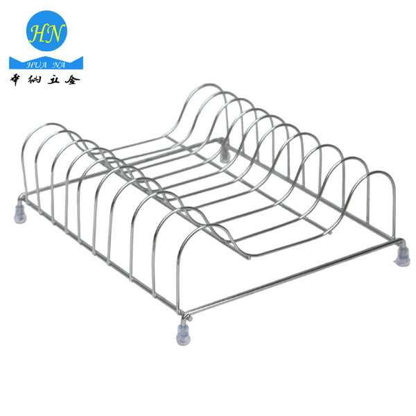 Customized Kitchen High Quality Iron Wire Chromed Plated Dish Rack