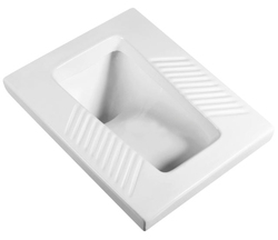 White ceramic pam/ squatting wc pan
