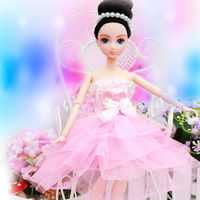 12inch fashion ruffle doll dress China toy factory