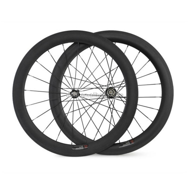 700c rim 20/24 holes carbon wheel 60mm road bike carbon clincher wheelset no logo bicycle wheel