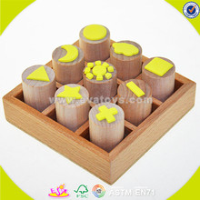 wholesale New style novelty wooden seal toys,wooden stamps toys clothing seal,DIY wooden seal gifts toy W01A074