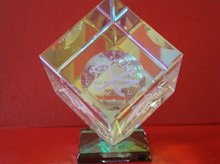 crystal cube islamic small paperweight gifts MH-TF085