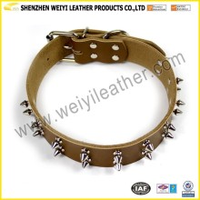 Pet Products Supplies Real Leather Pet Collar Natural Leather Pet Collar