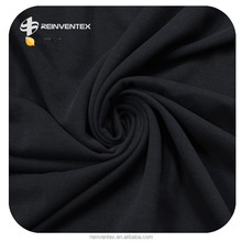 Stretch black dyed modal jersey fabric, M/SP 96/4, 180GSM and width 59''