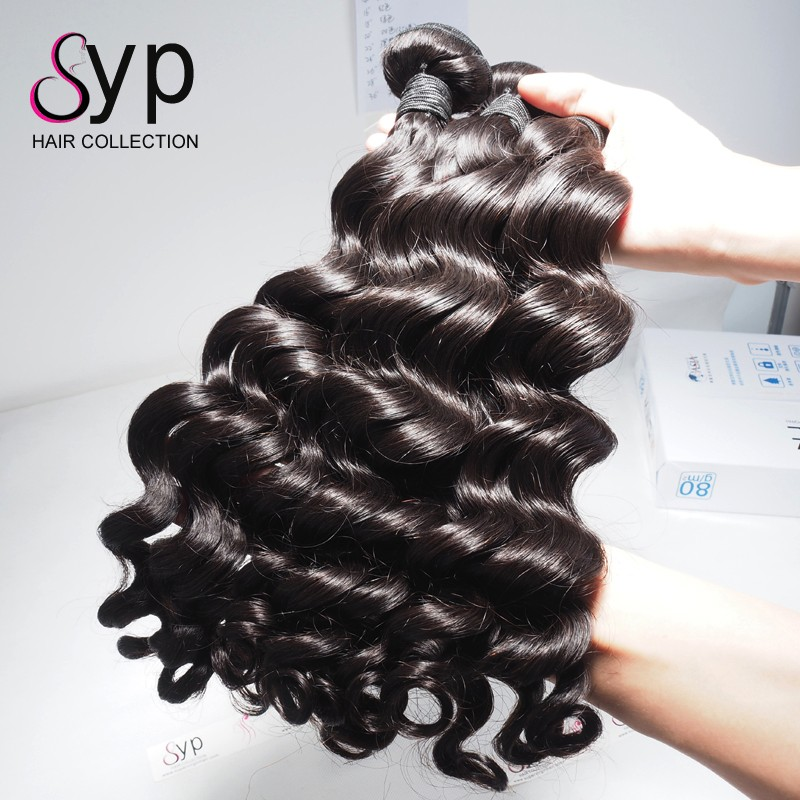 Celebrity Brazilian Sew In Wave Natural Human Hair Products For Black Women