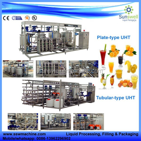 fruit apple juice pasteurizer stainless steel machine