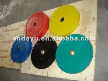 color olympic bumper weight plate