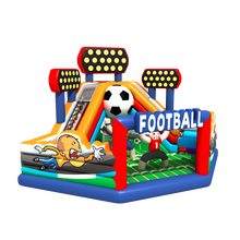 Football theme playground jumping toy inflatable castle bouncer bounce house slide rentals