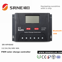 40A wholesale PWM solar charge controller manual with certificate