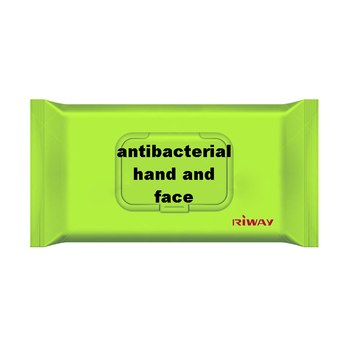 antibacterial hand and face cleaning wipe