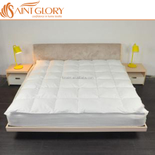 Saint Glory Cheap Hotel Hard Feather Down Mattress Topper Factory Mattress Pad By Factory Produced