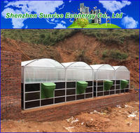 medium size portable diy kit soft pvc solar heating biogas digester to animal waste